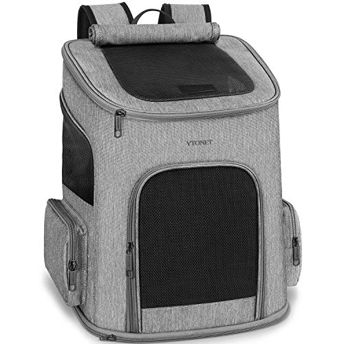 Dog Backpack Carrier, Dog Carrier Backpack for Small Dogs Cats, Ventilated Design...