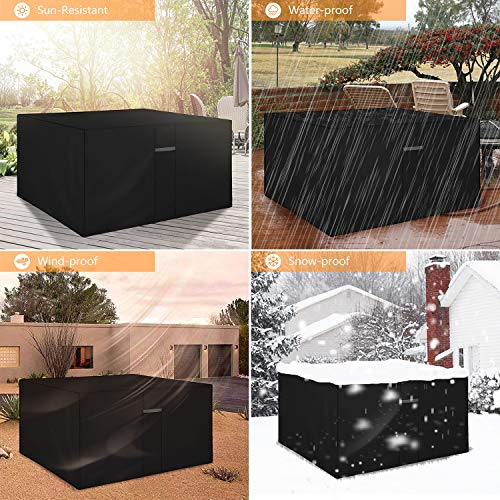 Dokon Cube Garden Furniture Cover with Air Vent, Waterproof, Windproof, Anti-UV, Heavy Duty Rip Proof 600D Oxford Fabric…