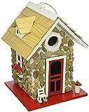 Home Bazaar- Hand-made Fieldstone Guest Cottage Birdhouse - Eco Tough Bird House