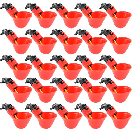 Angoodden 24PCS Fully Automatic Poultry Drinking Machine Chicken Drinking Cup for...