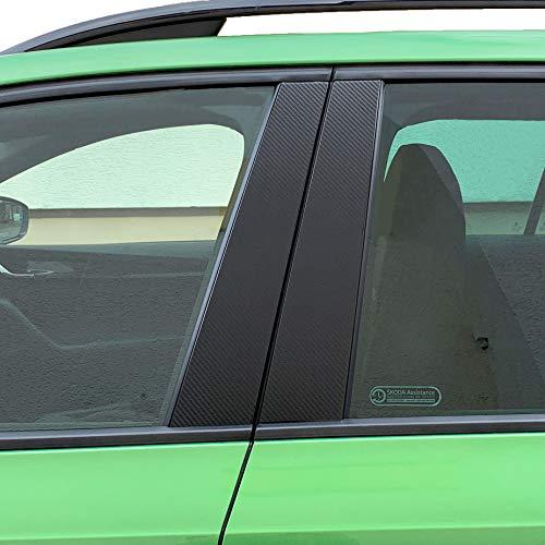 P021 | Schutzfolie Türleisten - 6er Folien-Set Dekor 3M 1080 Wrap Folie | 2080 Wrap Folie | Passgenaue Folie | Car Wrapping | Aufkleber | Klebefolie (3M Carbon)