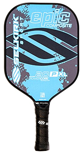 Selkirk Sport 20P XL Epic Polymer Honeycomb Core Composite Pickleball Paddle (Cyan Blue, XL)