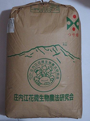 つや姫 玄米 令和2年産 江花微生物農法栽培 30kg 山形県庄内産 庄内の恵み屋