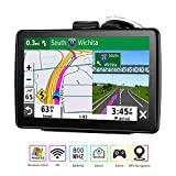 GPS Navigation (7 inch/8GB) Vehicle GPS Navigation System with Built-in Lifetime Maps,FM Car Navigation and Spoken Turn-by-Turn Directions (Black)