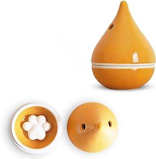 J-kitchens 勲山窯 アロマディフューザー 波佐見焼 日本製 5.5x8cm 肉球型 アロマストーン ( アロマ プレート )5個付 オレンジ