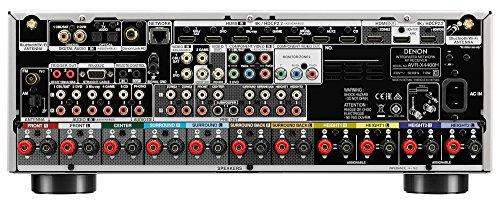 Denon AVRX4400H 9.2 Premium AV-Receiver und HEOS Integration (Dolby Vision Komtabilität, Dolby Atmos, dtsX, WLAN, Bluetooth, Amazon Music, Spotify, | Premium-Silber