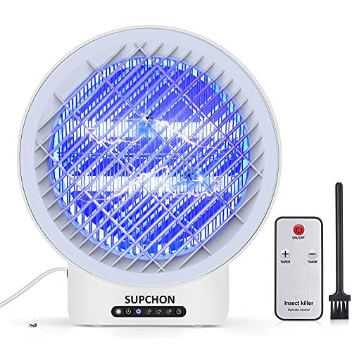 SUPCHON Lampe Anti-Moustique, 12w UV Tueur d Insectes Electrique, Efficace Portée 60m²,sûr Et Non Toxique Destructeur de Moustiques