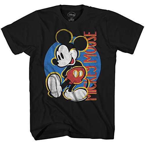 Disney Mickey Mouse Final Touches Disneyland World Tee Funny Humor Adult Mens Graphic T-Shirt (X-Large, Black)