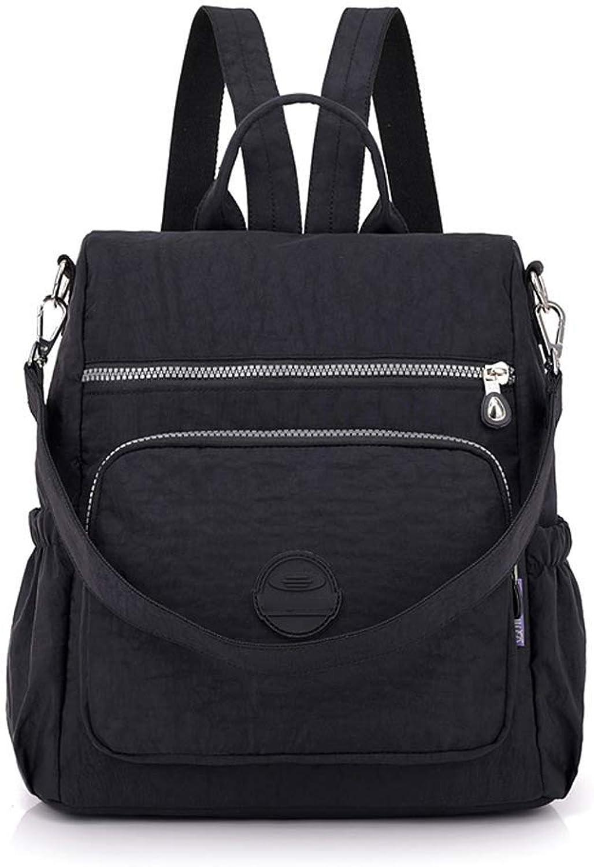 DMIZ Womens Casual Style Lightweight Canvas Backpack School Bag Travel Daypack Medium Handbag Purse Multipurpose Travel Backpack Everyday Backpack for Men Women (color   Black)