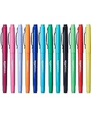 Amazon Basics - Rotuladores de punta de fieltro, colores surtidos, paquete de 12