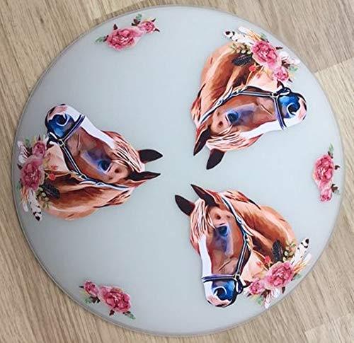 Deckenleuchte/Wandlampe * PFERDE Horses Blumen Glitzer* auch LED