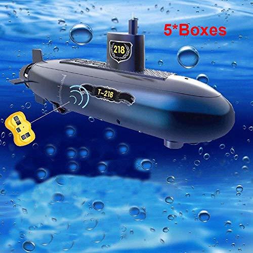 HHtoy 6-Kanäle Mini RC U-Boot Modell DIY Fernbedienung Outdoor-Abenteuer Pigboat Modell U-Boot Fernbedienung Boot Spielzeug Geschenk Bildung Geschenk