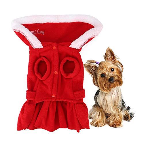 Pssopp Vestido de Invierno para Perros Rojo Navidad Otoño Invierno...