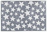 Kit for Kids Nursery Rug, Grey With White Stars (1 Meter x 1.5 Meter)