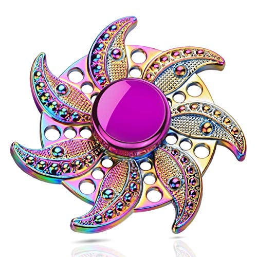 ATESSON Fidget Spinner Toys for Kids Adults, Durable High Speed Bearing Metal Material Hand Spinner EDC ADHD Focus Anxiety Stress Relief Toys for Boys Girls