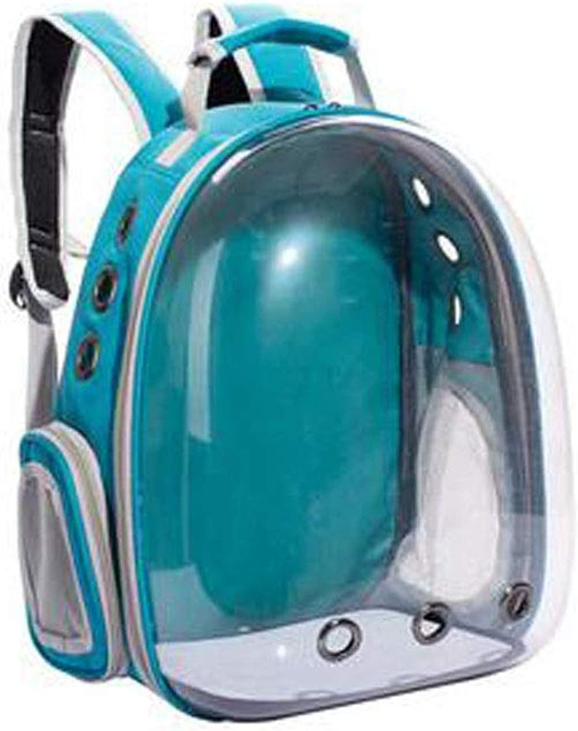 Guyuexuan Fully Transparent Pet Backpack, LargeCapacity Space Capsule Bubble Transparent Backpack, Suitable for MediumSized Pets for Travel, Hiking Pet Travel Essentials (color   bluee2)