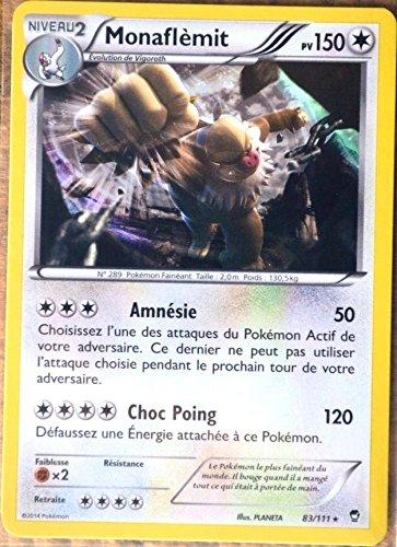 Pokemon carte 83/111 Monaflèmit 150 PV RARE XY03 XY Poings Furieux NEUF FR