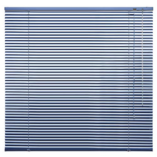 Alu Jalousie Aluminium Jalousette Klemmfix ohne Bohren Tür Fenster Rollo Lamellen Vorhang 10 Farben Breite 50 cm bis 240 cm Länge 130 cm 160 cm 220 cm Metall Klemmträger (180 x 160 cm Blau Metallic)