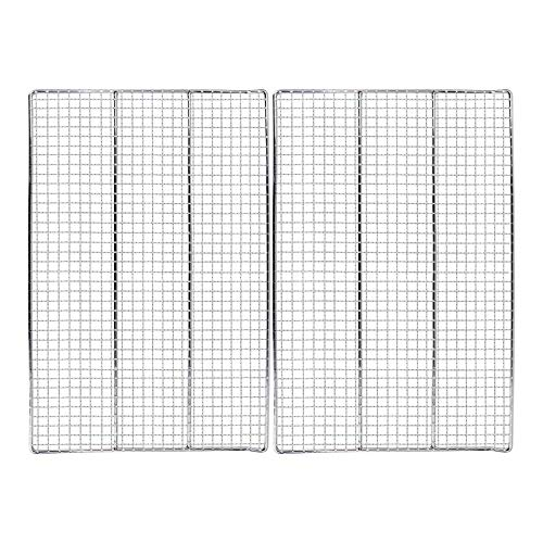 Uniflasy Jerky Rack Cooking Grates Replacement Parts for Masterbuilt 40 inch Electric Smoker Grill Cooking Rack 19.69' x 12.2' 2 PC