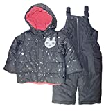Carter's Baby Girls Heavyweight Jacket and Pants Snowsuit, Hearts on Pink Blush, 18 Months