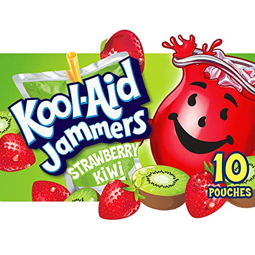 Kool-Aid Jammers Strawberry Kiwi Flavored Juice Drink (10 Pouches)