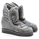 Mou Eskimo Boot Wedge - Botas para mujer Plateado Antique Silver 40