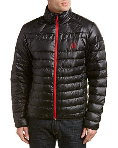 Spyder Men's Prymo Down Jacket, Black/Red, Large