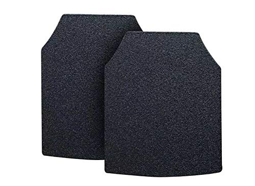 Body Armor AR500 Level 3 Set of Curved 10x12 Chest Plates (Set of 2) Front and Back Gray