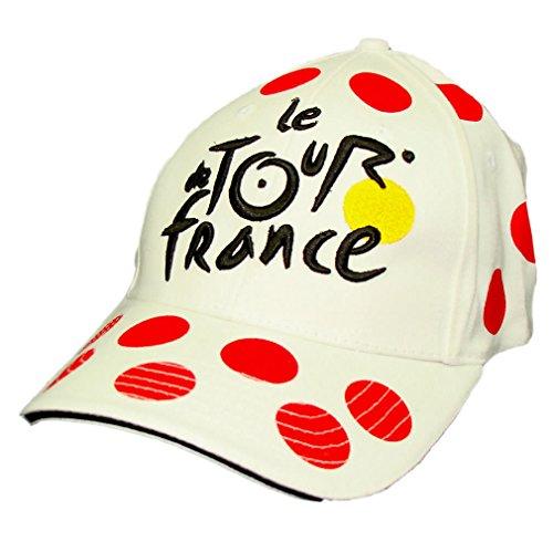 Le Tour de France - Casquette Tour de France Officielle - Taille réglable - Couleur : Pois rouges