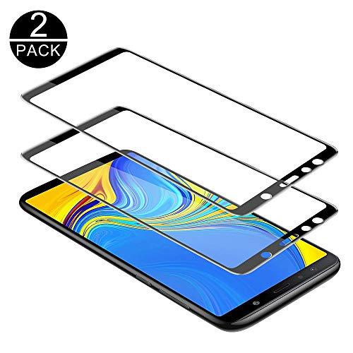 TECHKUN Samsung Galaxy A7 2018 Schutzfolie, 9H Panzerglas Bildschirm Schutzfolie Bildschirmschutzfolie Bildschirmschutz Für for Samsung SM-A750FZBUDBT Galaxy A7 2018 15,36 (6 Zoll) Smartphone (Schwarz)