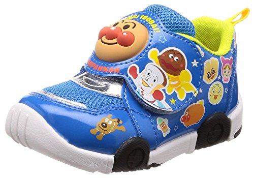 Moonstar = PARENT = 運動靴 マジック ゆったり 軽量 抗菌防臭 キッズ APM C147 ブルー 14 cm 2E