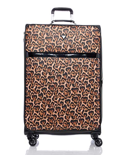 """Guess Chepi Collection 28"""" 8-Wheeled Spinner, Leopard Print, One Size"""