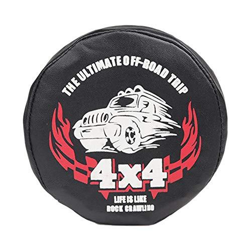 Reserveradabdeckung, 1/10 TRX4 AXIAL SCX10 Leder Reserveradabdeckung für 100mm-114mm Reifen Geeignet für 1/10 RC-Crawler