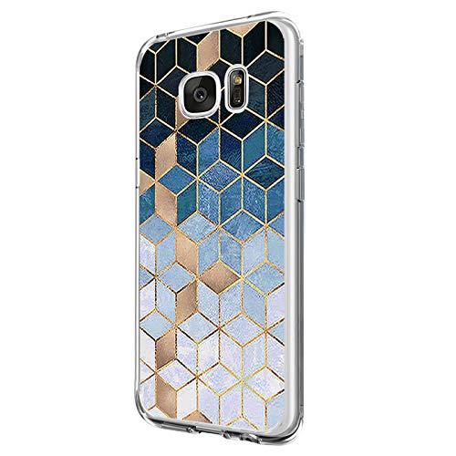 14chvily Kompatibel mit Galaxy S6 Hülle, Marmor-Design Silikon S6 Handyhüllen Bumper Ultra Dünn Durchsichtig TPU Schutzhülle für Galaxy S6 (05)