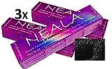 Pack 3 Tintes profesional sin amoniaco, PPD ni MEA. NEALA coloración permanente profesional - 3 x 100ml. (01- NEGRO)
