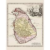 Doppelganger33 LTD Balda Relandi Map Ceylon Sri Lanka Wall