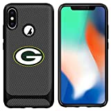 Packers iPhone X Case iPhone Xs Cover Slim Soft Carbon Fiber Pattern Silicone TPU Protective Durable snap on Shell for iPhone X/XS 5.8 inch Black