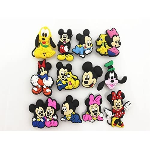 0799137ec 12 Disney Mickey Friend Shoe Charms for Croc Shoes   Wristband Bracelet  party gifts