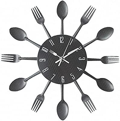 Y-Hui Kitchen Wall Clock Living Room Fork Spoon And Fork Clock On The Bedroom