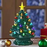 The Lakeside Collection Large Retro Lighted Tabletop Christmas Tree - Green