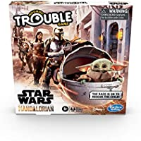 Hasbro Gaming Trouble: Star Wars The Mandalorian Edition Board Game