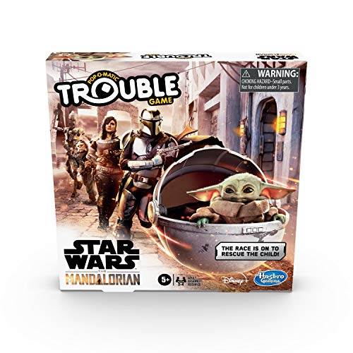 Hasbro Gaming Trouble: Star Wars The Mandalorian Edition Board Game Now $7.13
