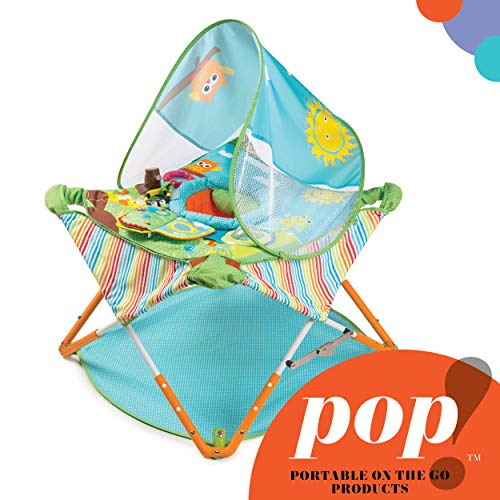 Summer Pop 'n Jump Portable Activity Center – Lightweight Baby Jumper with Toys for On-The-Go and at Home, Compact Fold for Storage and Travel