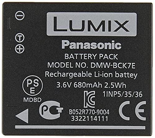 Panasonic Lumix DMW-BCK7E Batterie rechargeable 3.6V, 680mAh, 2.5Wh pour Lumix FT30 - Noir