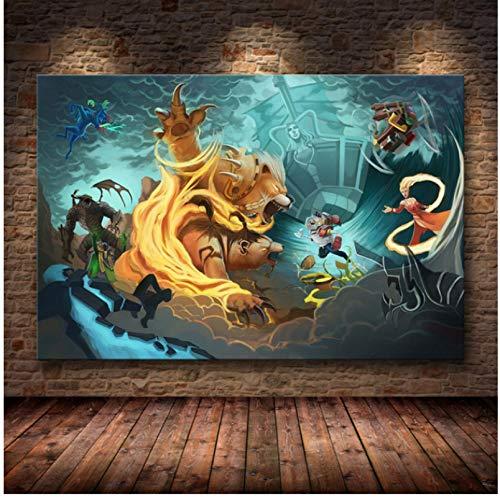 LGYJAL The Classic Game Poster Pintura de decoración en Lienzo HD para Dormitorio Sala de Estar Dormitorio Decoración del hogar Carteles e Impresiones 50x70 cm (19,68x27,55 in) E-207