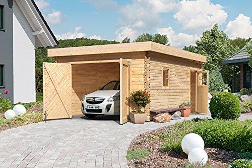 KARIBU Einzel-Garage, natur (BxT: 372x522 cm) natur