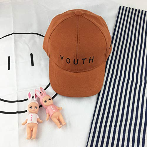 Chapeaux pour Enfants garçons et Filles Lettres de Casquette de Baseball 1-3 Ans Bonnets bébé Chapeau de marée pour Enfants Couleur Caramel 10-36 Mois
