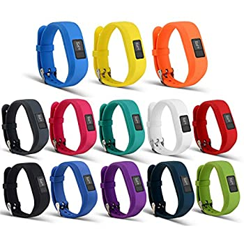 I-SMILE Replacement Wristband With Secure Clasps for Garmin Vivofit 3 Only No tracker Replacement Bands Only