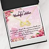 Mother Necklace Love and Encouragement Keepsake Card Gift - Colgante de acero inoxidable