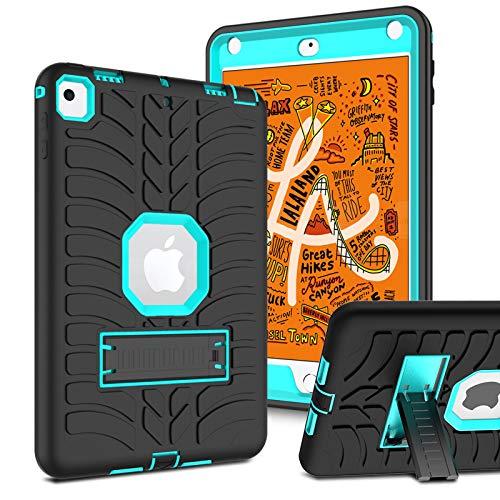 Innens for iPad Mini 5 2019 Case, iPad Mini 4 Case, Heavy Duty Three Layer Armor Defender Shockproof Protective Cover Case with Kickstand for iPad Mini 5/4 7.9-Inch (Blue/Black)